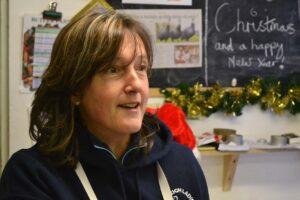 2013-12-24 Butler Farms - Caroline in the shop